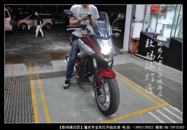 本田NC750升级进口海拉五双光透镜