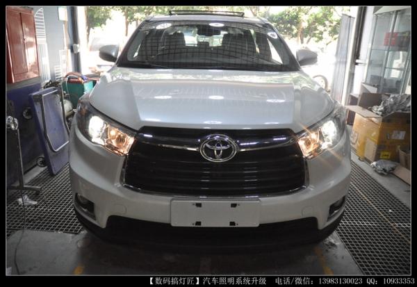 丰田新汉兰达升级进口海拉五双光透镜